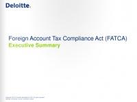 Резюме FATCA от Deloitte.